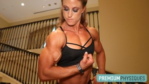 "FREAKING MASSIVE!  Alli Schmohl's biceps are OVER 16"" - Join PremiumPhysiques now for all new pics and vids of this super-hottie!"