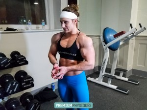 Paige Sandgren, aka Beefnuggette, is freaking super strong, massive, and vascular.  See these 2 training galleries that are on the Evocative Studios page - JOIN NOW!