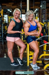 Christine Moyer joins Brooke for Brooke's latest PremiumPhysiques shoot - from Fit Nation Gym in California. Join now!