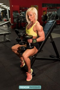 The beautiful Arkansas Ranger - supreme vascularity and size. The ultimate in Women's Physique!