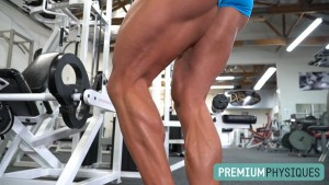 Tremendous hamstrings and calves - Brooke's brutal leg day at the Dungeon - exclulsively at PremiumPhysiques.com - JOIN NOW!