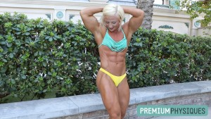 Gorgeous, ripped muscle - even in the offseason - Brooke is a freak of muscle!