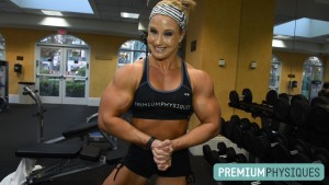 WOW! Look at the size of those massive cannons!  Alli is giving Katie all she can handle in this biceps battle!