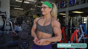 Beefnuggette at her leanest and most vascular yet - JOIN PremiumPhysiques now for the NEW Beefnuggette shoot!