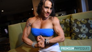 Can't get enough of Twiggy!  What a cute and lovely lady, with unreal vascular and shredded muscle!