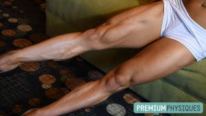 Join PremiumPhysiques now for the latest shoot with Twiggy's RIPPED legs!