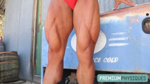 MIND-BLOWING QUADS - enormous power!  Join PremiumPhysiques now for the stunning Jamie Pinder!