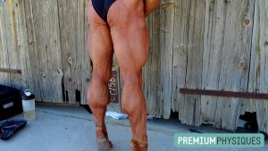 Jill's massive calves and ripped hamstrings  aren't all there is... she's got a RIPPED upper body too! - Join Now for this most amazing of models!