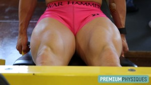 Look at Sara's MASSIVE and POWERFUL QUADS! - Join PremiumPhysiques for all the sexy pics and vids on the way!