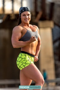 THICK and POWERFUL - tremendously muscled Sara Butler - Join PremiumPhysiques now for HOT new photos and videos!