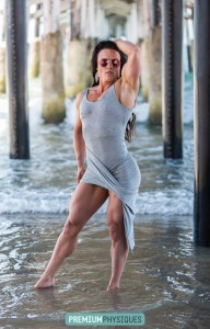Look at those LEGS and biceps on Sara Butler! - Join PremiumPhysiques today!